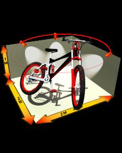 Rendering Studio Template : Dimensions 2m x 2m x 1m